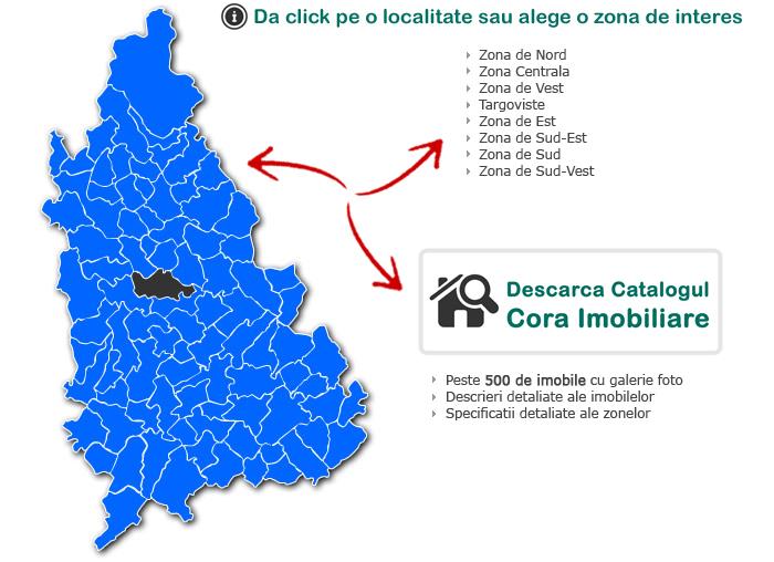 Harta Judetului Dambovita Cora Imobiliare